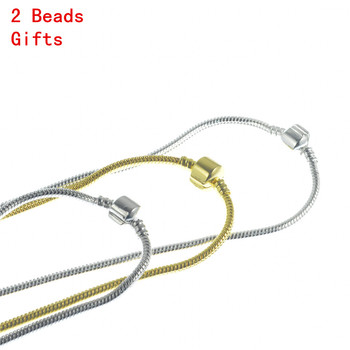 New Design Silver Plated 3mm Long Necklace Male Decoration Snake Chain Colar Masculino Jewelry Free 2 Beads Gifts